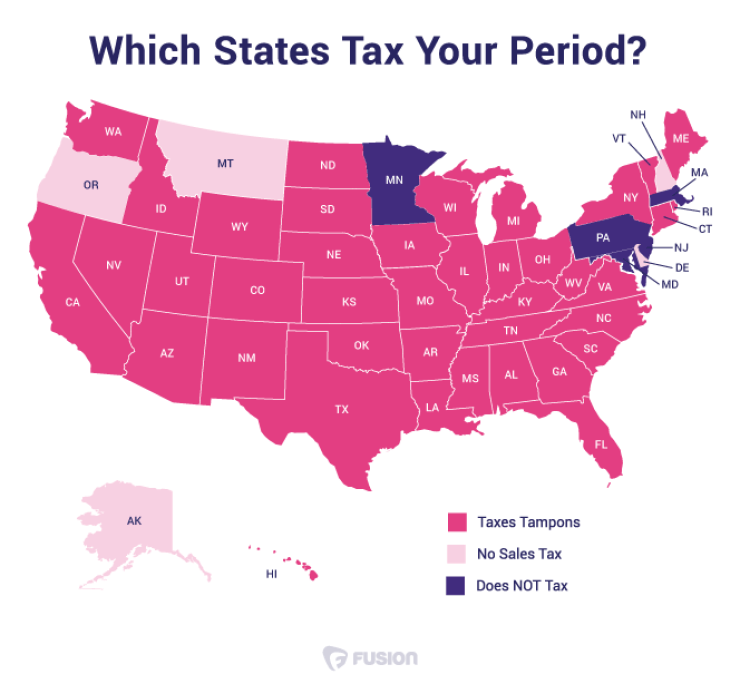 Tampons Are Taxed In 40 States As A Luxury Item Julia View